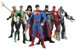 7PcsSet DC Comic Justice League Superman Wonder Woman Batman Action Figure Toy