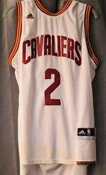 Kyrie Irving #2 Adidas Cleveland Cavaliers Cavs Jersey White Jersey Basketball