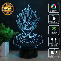 Dragon Ball Z Son Goku 3D illusion LED Night Light Touch Table Desk Lamp 7Color $19.98