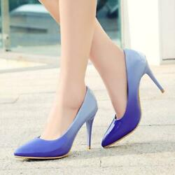 Women#x27;s Stilettos Patent Leather Pumps High Heels Pointed Toe Summer Party Shoes $37.98