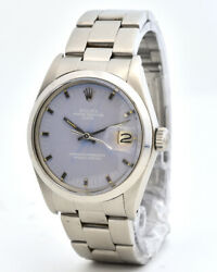ROLEX Oyster Perpetual Date Ref. 1500 Steel Light Blue Dial Watch Box (R-31)