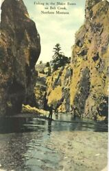 Montana Postcard Vintage Antique Posted 1910 Belt Creek Sluice Boxes Fishing $29.99
