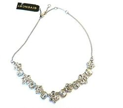 Givenchy  Silver -Tone  Crystal Collar Necklace