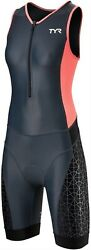 TYR Competitor Women's Tri Suit: GrayCoral MD