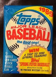 (1) 1989 Topps Baseball Wax Pack (Factory Sealed - Unopened) - FS   Qty
