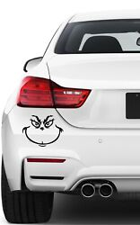 Vinyl Decal Grinch Face! Calendared Vinyl Various colors and sizes!