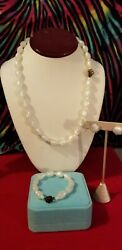 Vintage jewelry lot gorgeous mother of pearl moonglow set cool clasps.