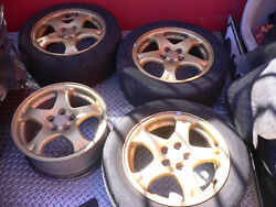 19982001 SUBARU IMPREZA RS GOLD WHEEL   5X100