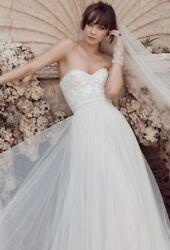 Wedding Dress Size 4 Watters Wtoo Strapless Lace Tulle Sibohan