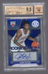 2012 Totally Certified Jimmy Butler Rookie Roll Call Blue Auto #129 BGS 9.510