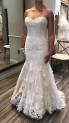 Wtoo by Watters Wedding Dress Size 8 - Strapless - Champagne Color - Sexy Chic $510.00