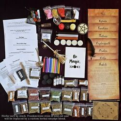 Complete wicca starter kit pagan supplies witchcraft altar tools spell candles