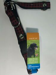 """RC Pet Products Easy Clip Web Training Dog Collar Red Plaid 19"""" 26"""" 65905229 New $11.42"""