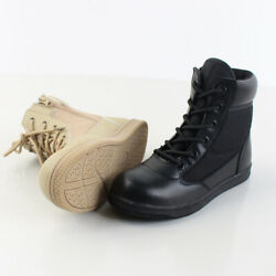 US Kids Child Boys Girls Winter Boots Combat High Top Shoes Military Outdoor