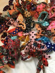 12 Pack Cute Bow Scrunchies- Bonus 2 Free Foldable Compact brushes Free Shipping $10.00