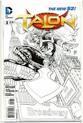 TALON #3 Black and White Guillem March Sketch VARIANT 2013