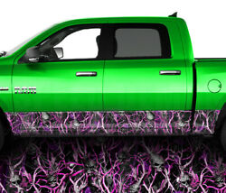 Obliteration Skull Pink Rocker Panel Graphic Decal Wrap Kit Truck  26 FT Matte