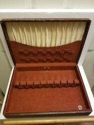 Vintage Wooden 1847 Rogers Bros. Silver Chest- Silverware Box Only  ( Empty)