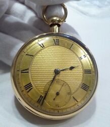 18K Gold Gaspar Cachard London 1901  Open-Faced Repeater Fusée Pocket Watch