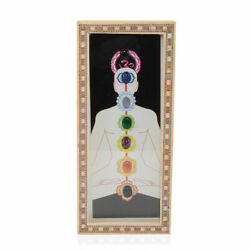 Home Office Decor Handcrafted Seven Chakra Wall Hanging with Stone Gifts for Dad $12.99