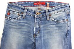 BIG STAR Womens 27R x 33 Inseam Bootcut Stretch Blue Jeans MADE IN USA $17.00