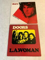 Lot Of 2 - The Doors (Greatest Hits  LA Woman) - Vinyl - Excellent Condition