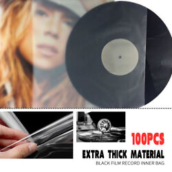 100PCS Antistatic Clear Outer Plastic Cover Sleeves For 12'' LP LD Vinyl Record