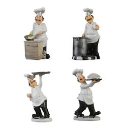 Cook Figurines Kitchen Decor Chef Staute Ornaments Counter Top Collectible $23.92
