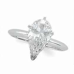 Pear Diamond Engagement Ring 14K White Gold (1.4 Ct K Si1 Clarity) Wgi