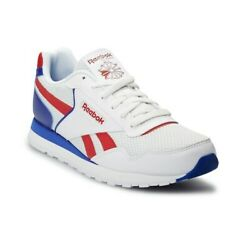 Reebok Classic Leather Harman EF8575 White Blue Red Men Shoes Size 7.5-13