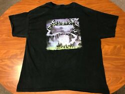 MENS METALLICA CREEPING DEATH BLACK DOUBLE SIDED REPRODUCTION SHIRT SIZE 2XL
