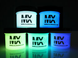 MX24 ULTRA Glo in the Dark Paint 1 2ozx5colors Daytime Invisible Free UV KEYRING $16.99