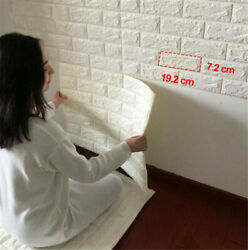 Premium PE Foam 3D Self Adhesive DIY Large Panels Wall Stickers Embossed Brick $8.24