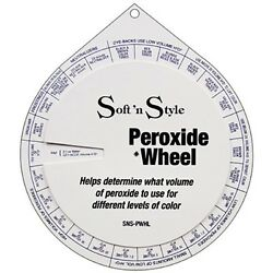 Cosmetology Stylist Peroxide Wheel Which Volume to Use for Colors #SNS PWHL $5.45