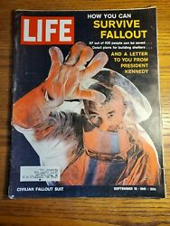 HOW YOU CAN SURVIVE FALLOUT - Life Magazine - September 15 1961