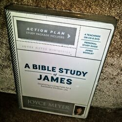 A Bible Study Of James by Joyce Meyer CD & DVD & Study Guide & Booklet Set. NEW!