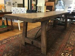 REFECTORY TABLE Antique with Metal Cross Bars $5999.99