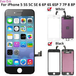 iPhone LCD Touch Screen Digitizer Replacement for 5 5C 5S SE 6 6S Plus 7 7Plus 8 $16.95