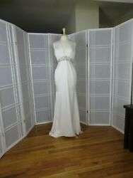 Paloma Blanca bride dress size 10 color natural