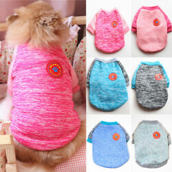 Pet Dogs Sweater Knitted Clothing Sweatshirt Winter Velvet Warm Small Dog Clothe $3.90