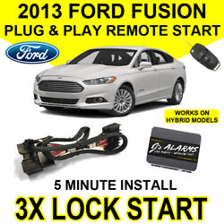 2013 Ford Fusion Remote Start Car Starter Plug & Play System Hybrid & Gas FO2F $139.91