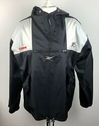Vintage Reebok SHARKS Rugby Rain Jacket South Africa Canon Size L Pull Over Coat