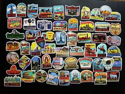 Tourist Attractions amp; Vacation Spots Around the World Decal Stickers $2.00