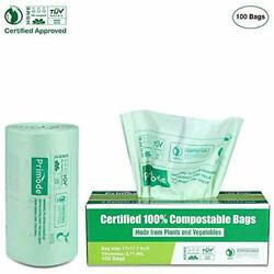 Primode 100% Compostable Bags 3 Gallon Food Scraps Yard Waste Bags Extra Thick $17.62