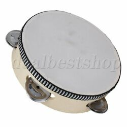 Six Inch Musical and Teaching Tambourine Drum Hand Drum Instrument for KTV Party $9.62