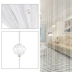 Crystal Beaded String Door Curtain Beads Room Divider Fringe Window Panel Drapes $9.48