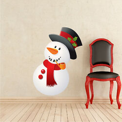 Snowman Wall Decal Winter Wall Decor Christmas Window And Wall Decorations h79 $11.95