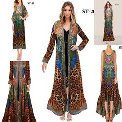 Christmas Gift 50 Pcs Assorted Digital Print Long Kaftan Women Beach Wear Kaftan
