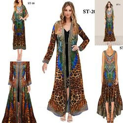New Year Gift Wholesale 50 Assorted Digital Print Long Kaftans Women Beach Wear