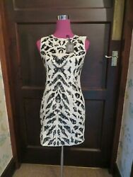 Stunning  All Saints Pala Sequin Dress Chalk  IndigoSize 12 BNWT $125.09